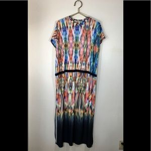 Zara Maxi Dress Watercolors Sz. M